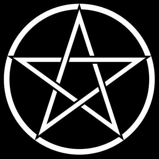 Pentacle background black