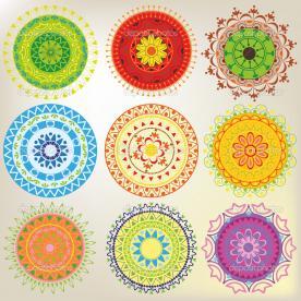 Depositphotos 13194392 set of 9 colored mandalas