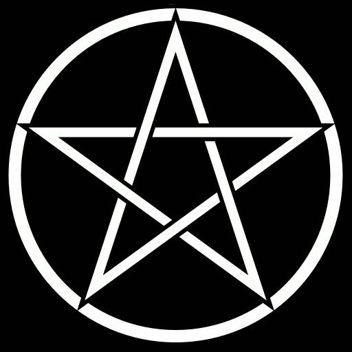 Pentacle background black