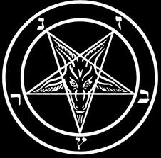 Pentacle with goat head